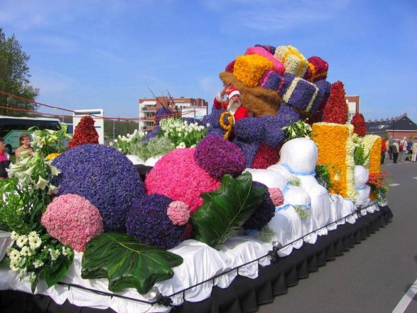 Kvetinový Santov voz