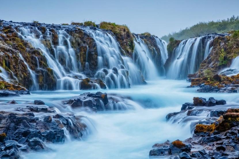 Vodopády Bruarfoss, Island