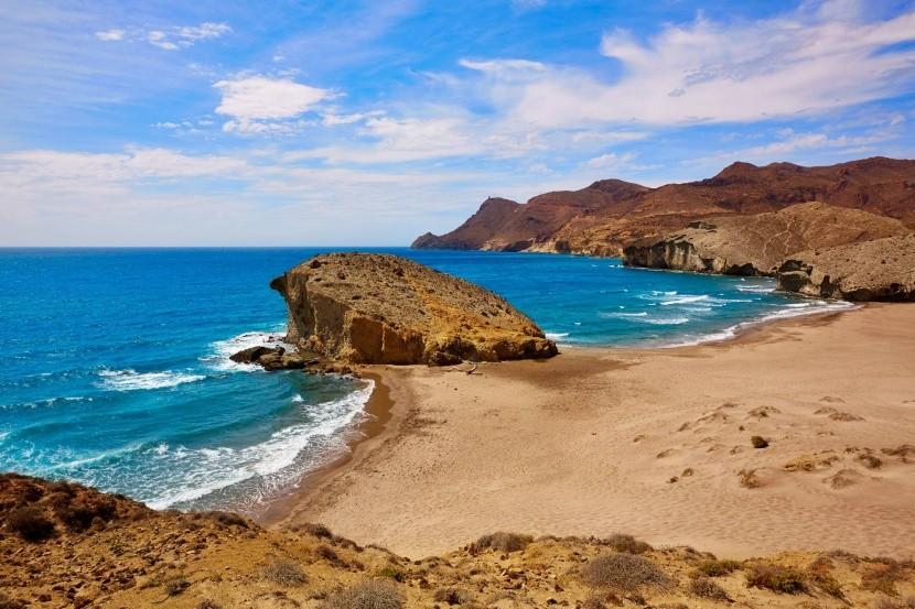 Pláž Monsul, Andalúzia, Španielsko