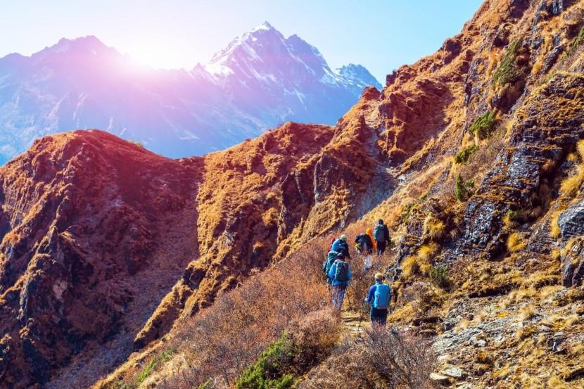 Turisti v Himalájach