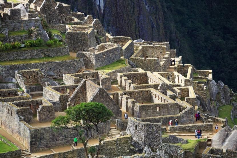 Ruiny budov v Machu Picchu
