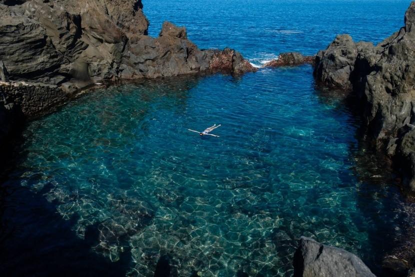 Prírodný bazén na Tenerife