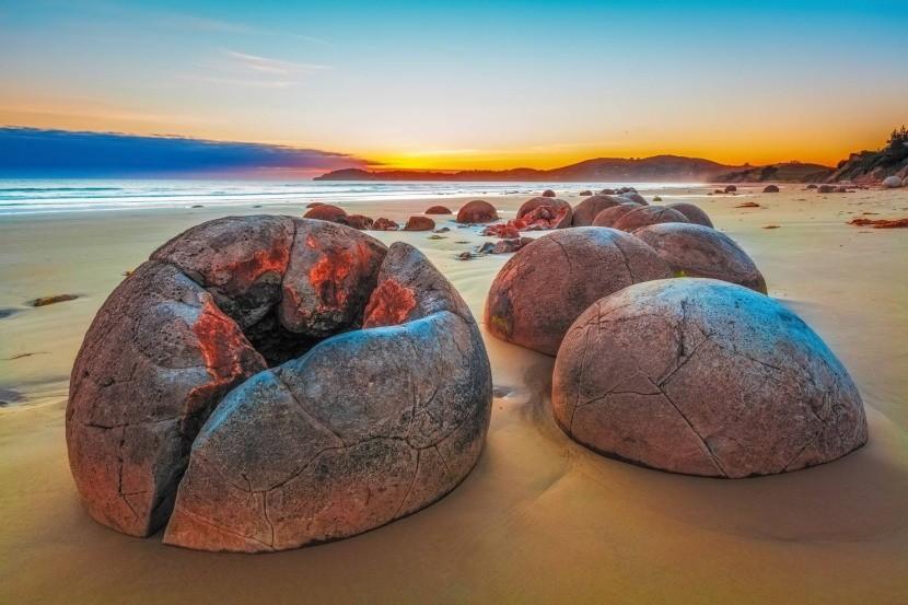Moeraki Boulders, Nový Zéland