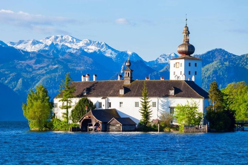Zámok Ort, Gmunden, jazero Traunsee