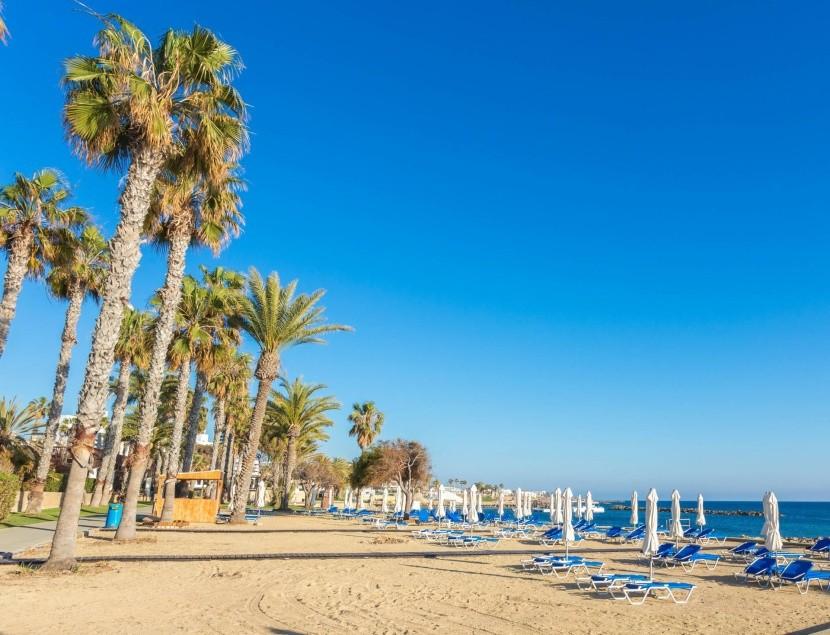Pláž v Pafose