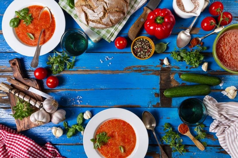 Suroviny na prípravu Gazpacho