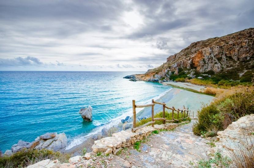 Pláž Preveli, južná Kréta