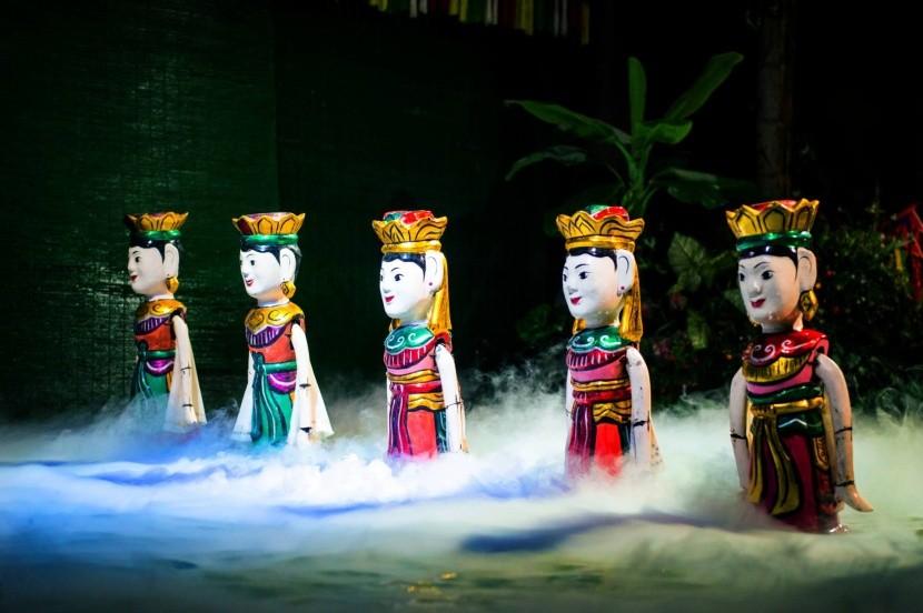 Vietnamskej vodné bábkové divadlo