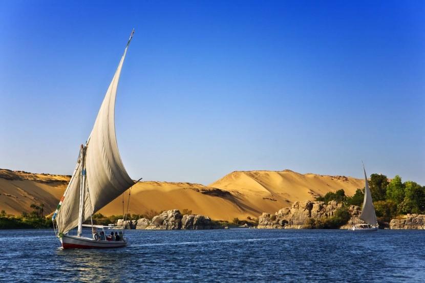 Nílske plachetnice feluky