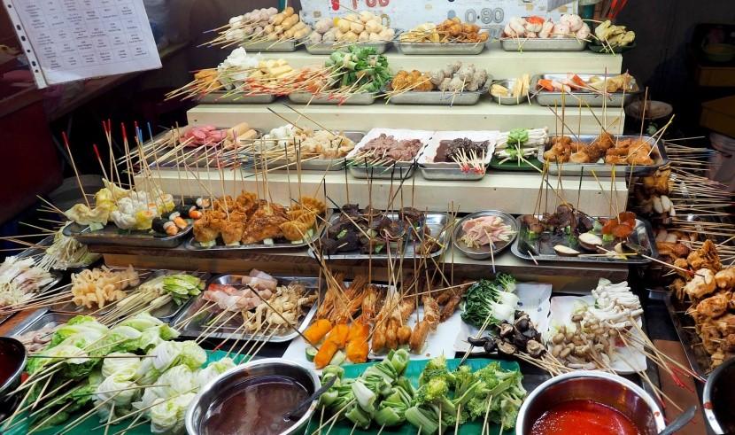 Pouličné občerstvenie v Malajzii