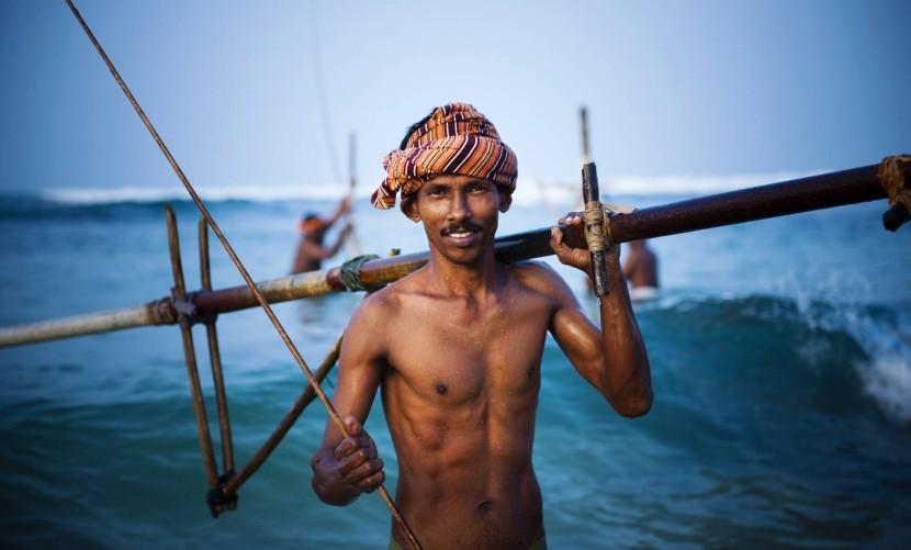 Rybár na Srí Lanke