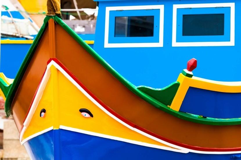 Rybárska loďka luzzu