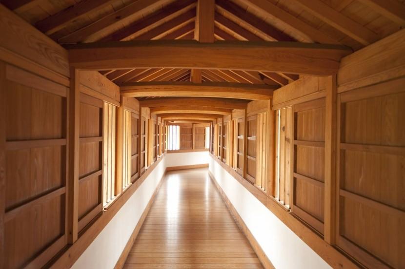 Interiér hradu Himedži