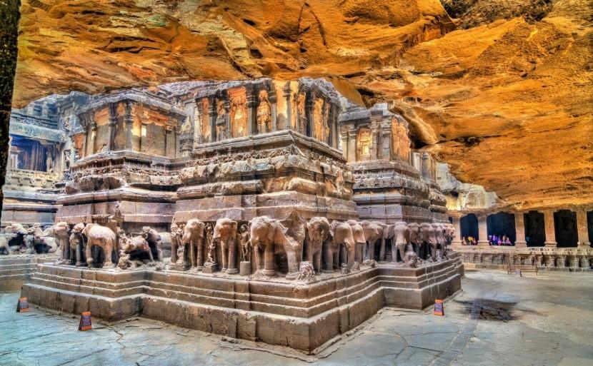 Jaskyne Éllóra, India