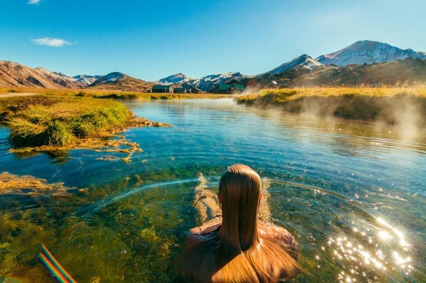 Prírodné kúpanie v Landmannalaugar