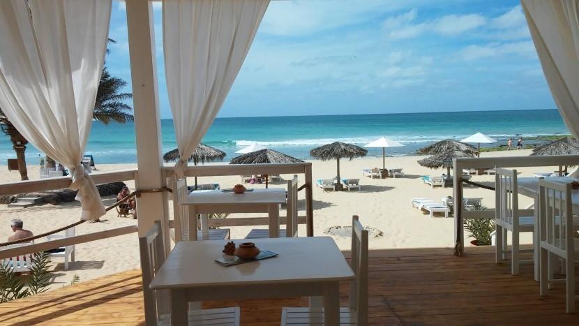 Reštaurácia na pláži, Boa Vista