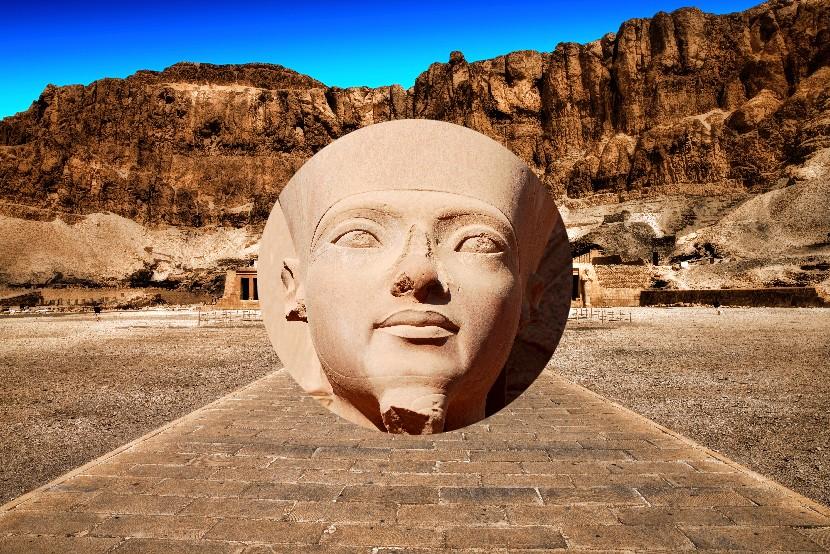 Kráľovná Hatšepsut, Luxor, Egypt