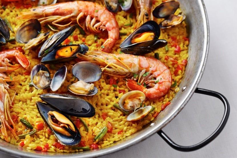 Paella s morskými plodmi, Katalánsko