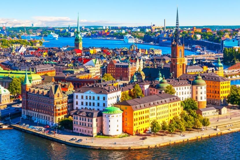 Kráľovské mesto Štokholm vo Švédsku