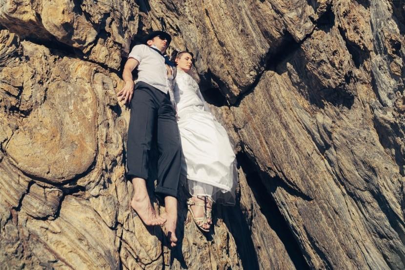Adrenalín: Nevesta so ženíchom na skale