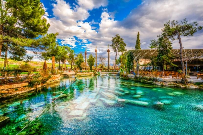 Kleopatrine kúpele, Pamukkale, Turecko