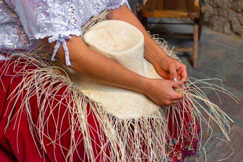 Ručne robené panamské klobúky