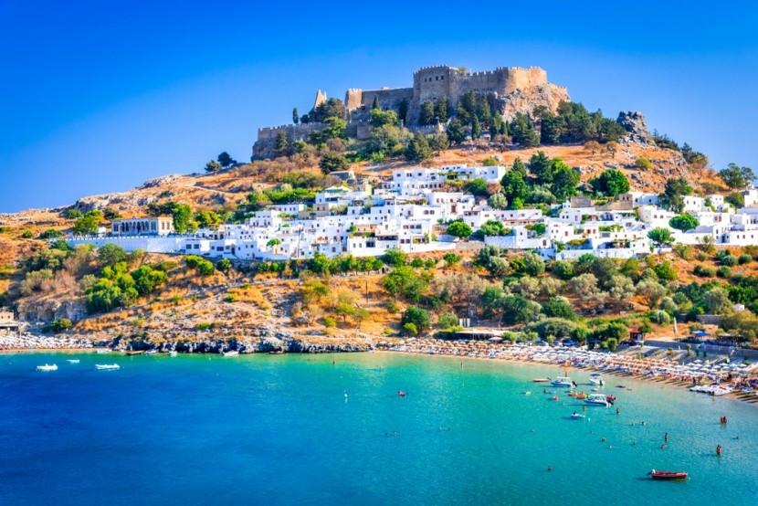 Lindos, Rhodos, Grécko