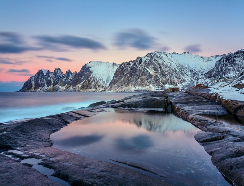 Ľadové kráľovstvo v regióne Tromsø v Nórsku