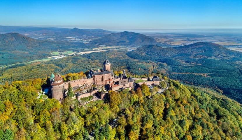 Hrady v Alsasku sú rozprávkové