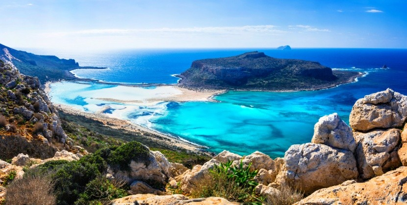 Záliv Balos na gréckom ostrove Kréta