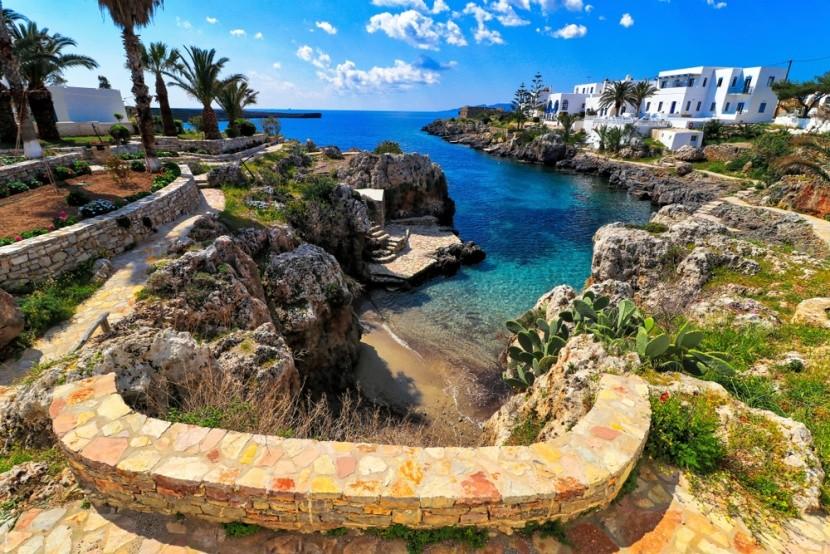Dedinka na pobreží gréckeho ostrova Kythira