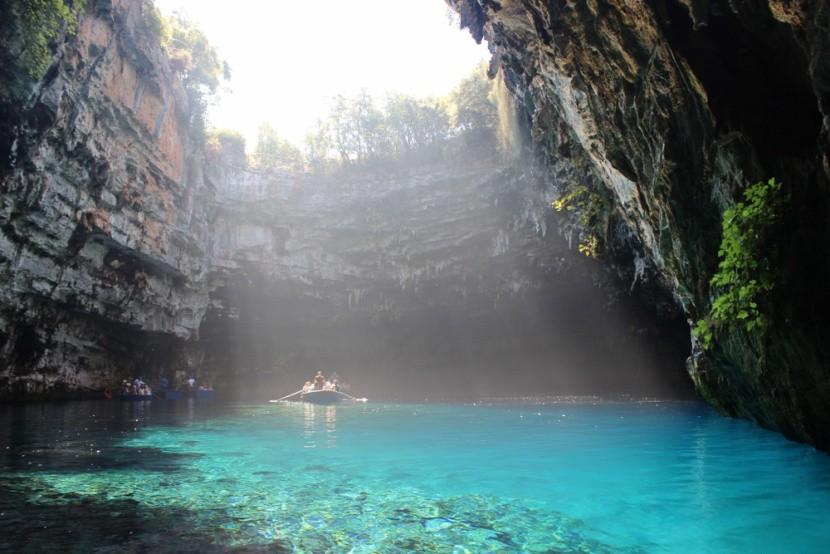 Jaskyňa Melissani, Kefalónia