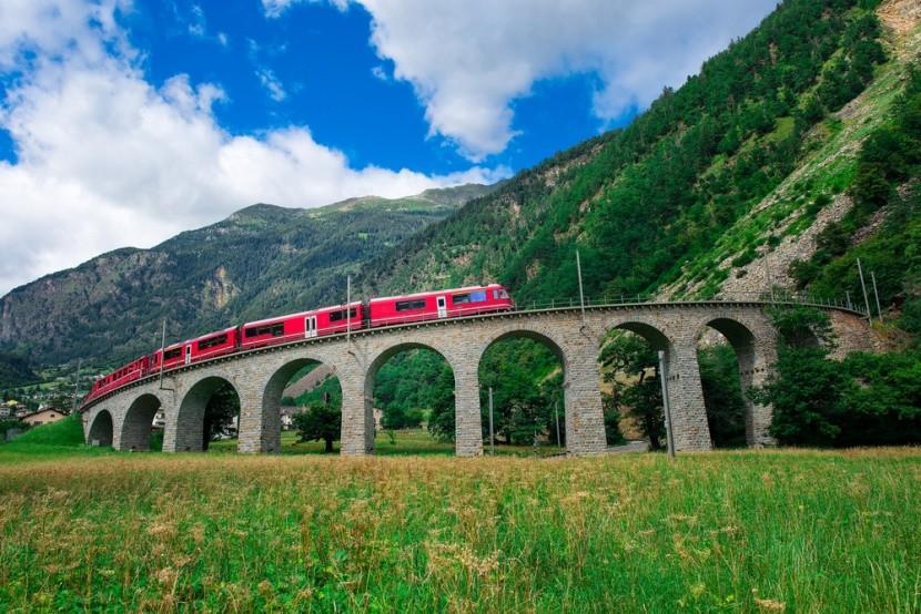 Viadukt vo Švajčiarsku