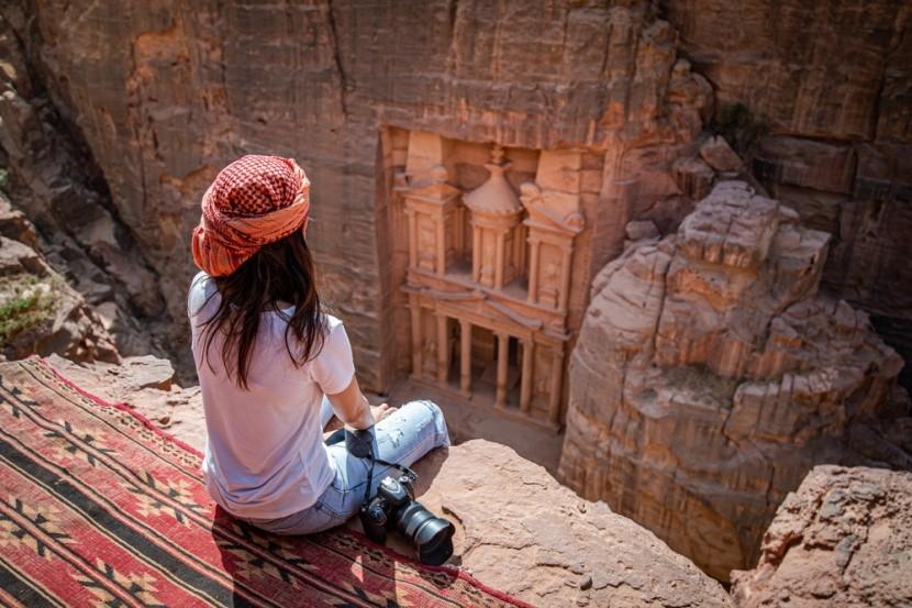 Skalné mesto Petra v Jordánsku