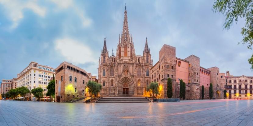 Katedrála v španielskej Barcelone