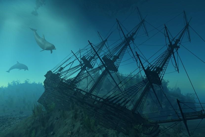 Vrak lode na dne mora