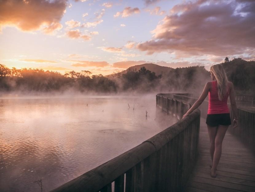 Kuirau park, Nový Zéland